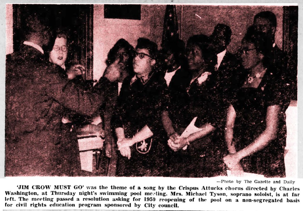 COMMUNITY CHORUS SINGS JIM CROW MUST GO 1948 clipping_51167600001